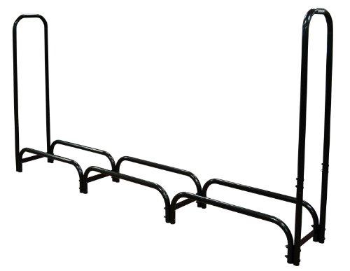 Landmann 82443 Firewood Rack with Cover, 8-Feet, Black