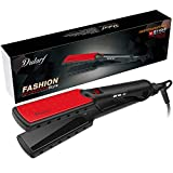 DULARF Ionic Hair Straightener Wet to Straight Salon Professional Straightening Iron With LED Temp Display Dual Voltage Travel Size Extra Wide Titanium Plate for Thick Hair (Ionic Hair Straightener)