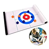 Freyamall Tabletop Curling Game, Adults and Kids Compact Curling Board Game Team Training, Mini Table Games for Family, School, Office or Travel Play