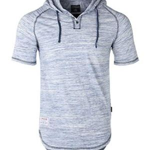 ZIMEGO Men's Contrast Short Sleeve Round Bottom Raglan Hoodie Henley T-Shirts 2 Fashion Online Shop 🆓 Gifts for her Gifts for him womens full figure