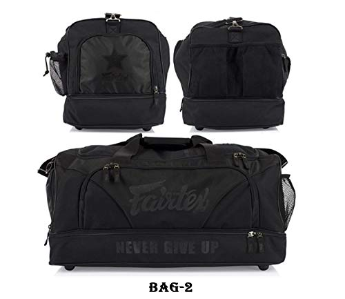 Fairtex Gym Bag Bag-2 All Black Gear Equipment Muay Thai Kickboxing MMA K1