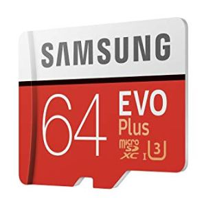 Samsung EVO Plus 64GB microSDXC UHS-I U3 100MB/s Full HD & 4K UHD Memory Card with Adapter (MB-MC64GA)