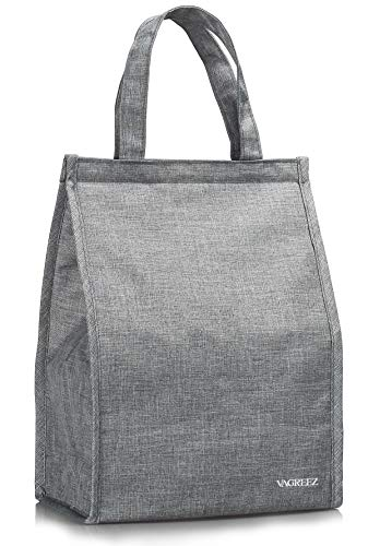 Lunch Bag, VAGREEZ Insulated Lunch Bag Large Waterproof Adult Lunch Tote Bag For Men or Women (Grey)