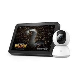 Echo Show 8 (Black) bundle with Mi 360° 1080p Full HD WiFi Smart Security Camera