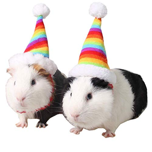 ANIAC Pet Christmas hat Santa Claus Cap Head Accessories for Rabbit Hamster Guinea Pig Rats Kitten Kitty and Small Animals 1