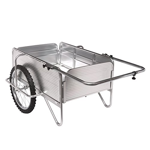 Sun Joe SJ-ALGC All-Purpose Heavy-Duty Aluminum Yard Cart With Removable Panels