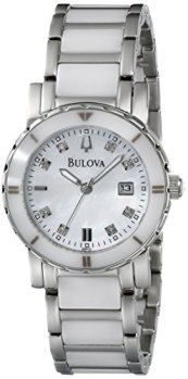 Bulova Women's 98P121 Highbridge Substantial Ceramic + Stainless steel construction Watch
