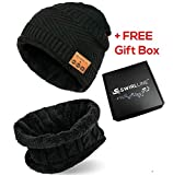 Bluetooth Beanie - Bluetooth Hat - Wireless Headphones Hat and Scarf Set for Winter Outdoor Men...