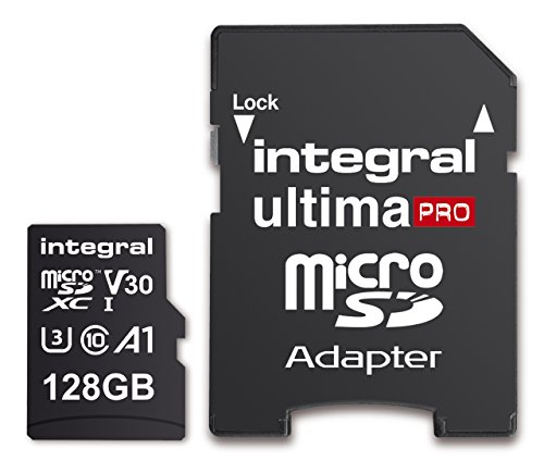 41gKO0h8lHL - Integral 128GB Micro SD Card Premium 4K High Speed Memory Microsdxc Up To 100MB/S V30 UHS-I U3