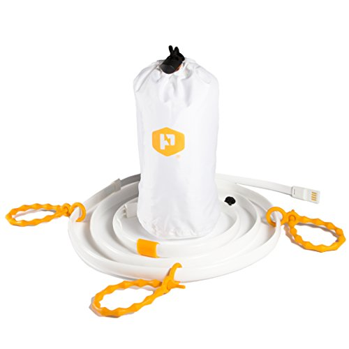 Luminoodle XL - USB Powered Outdoor LED String Lights + Camping Lantern - 10 ft Submersible Lights