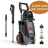 TACKLIFE 2300 Psi Electric Pressure Washer with Detergent Tank 1.8 GPM 2000W, 4 Nozzles and Automatic Stop Function, Great for Cleaning Cars and Yards