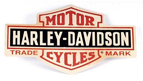 HARLEY-DAVIDSON Distressed Long Bar & Shield Tin Sign 15.5 x 9.5 Inch 2010131