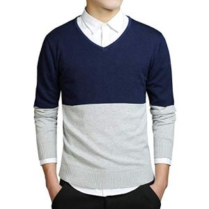 Spinning Mens Sweater Cutton Striped Sweaters Clothing Top M-3xl