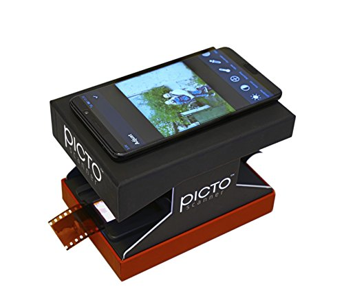 PictoScanner Film and Slide Scanner – Use Your High-Resolution Smartphone to Scan 35mm Slides and Film Negatives. Easily Scan, Edit, and Share with this No-Nonsense Solution