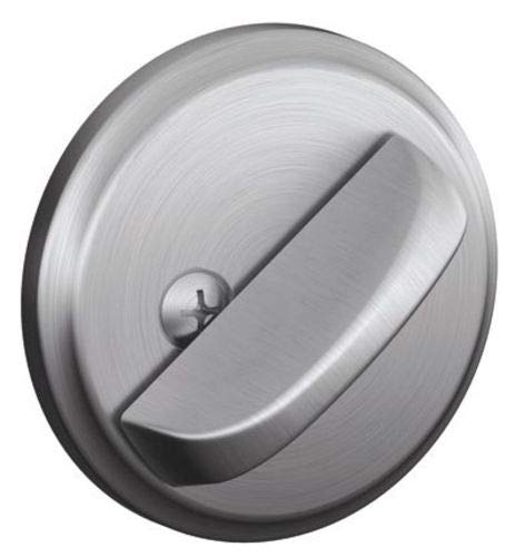 Schlage B81-626 Satin Chrome Door Bolt with Exterior Plate