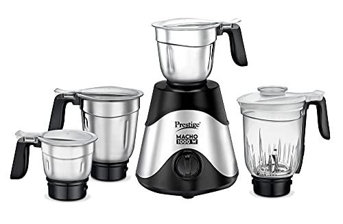 Prestige-Macho-Mixer-Grinder-1000-watts-with-3-Stainless-Steel-Jar-and-1-juicer-Jar-Black-Colour