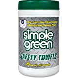 Simple Green 13351CT Safety Towels, 10 x 11 3/4, 75 per Canister (Case of 6)