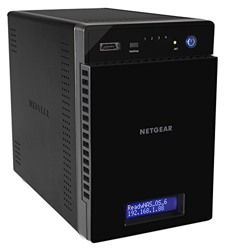 NETGEAR ReadyNAS RN214 4 Bay Diskless Personal Cloud NAS, Desktop & Mobile App, 24TB Capacity Network Attached Storage, 1.4GHz Quad Core Processor, 2GB RAM