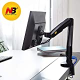 NB North Bayou Monitor Desk Mount Stand Full Motion Swivel Monitor Arm Gas Spring for 22''-35'' Computer Monitor from 6.6 to 19.8lbs(Black)