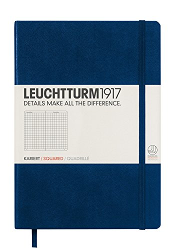 Leuchtturm1917 Medium Size A5 Notebook, Squared Pages, Navy