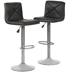 Bar Stools Set of 2 Counter Height Swivel Stool PU Leather Modern Height Adjustable Swivel Barstools Hydraulic Chair Bar…