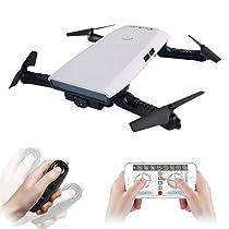 Drone con Telecamera HD 2.0MP, EACHINE E56 con modalità 720P Telecamera Sospensione di Altitudine Foldie Selfie Pocket Drone