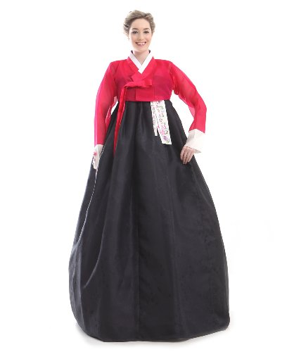 61 Rt7Ca hL We make this beautiful Hanbok just for you. Please give us your 4 sizes: Height and the other 3 sizes referring to the body measurement picture 100% highest quality silk
