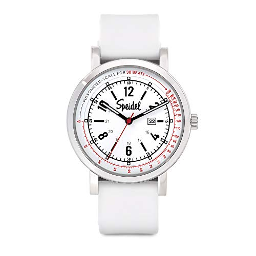 Speidel Scrub 30 Look ahead to Medical Professionals with Scrub Matching White Silicone Band, Pulsometer, Date Window, Straightforward to Learn Dial, Second Hand, Army Time for Nurses, Medical doctors, College students deal 50% off 41gj1R7vrZL