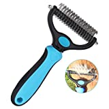 Eigenheim Dog Brush for Grooming 2 Sided Pet Dematting Comb Tools Safe Undercoat Rake Remove Mats and Tangles for Long Short Hair Cats Dogs