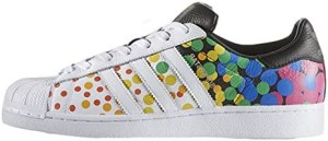 adidas Originals Men's Superstar Casual Fashion Sneaker, LGBTQ Pride White