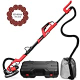 VIVOHOME Foldable 750W Electric Adjustable Variable Speed Drywall Sander Machine with Automatic Vacuum System LED Light and Tool Case