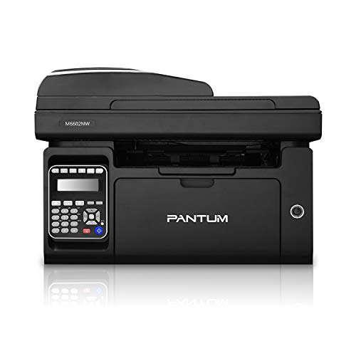 Pantum 4 in 1 Monochrome Laser Multifunction Printer M6602NW with Copier Scanner & Fax, Wireless Networking, Mobile Printing & USB 2.0