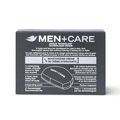 Dove Men+Care 3 in 1 Bar To Clean and Hydrate Skin Extra Fresh More Moisturizing Than Bar Soap 3.75 oz 10 Bars 4