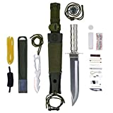 Maxam 12-Piece Survival Knife Set with Zinc Alloy Handles, Ideal for Survivalists, Hunters, Hikers, and Outdoor Sports Enthusiasts