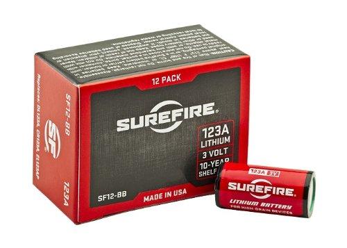 SureFire 6 Pack 123A Lithium Batteries