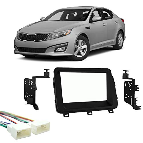 Fits Kia Optima 2014-2015 Double DIN Stereo Harness Radio Install Dash Kit New