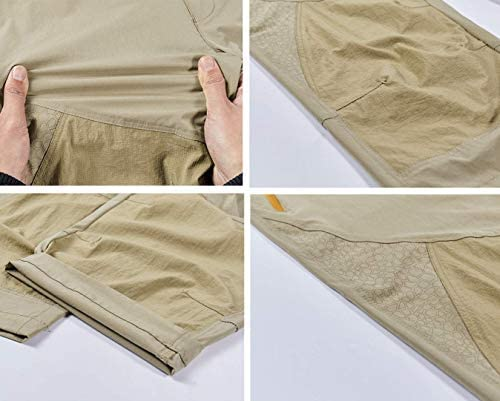 Vcansion Men's Outdoor Quick Dry Hiking Cargo Capri Shorts Summer 3/4 Pants 6