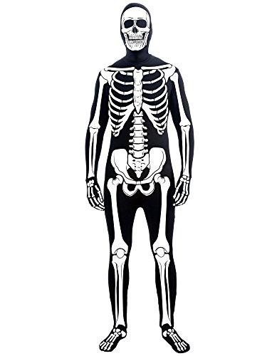Forum Novelties Men's Skeleton Man Bone Skin Suit Adult Costume, Multicolor, Standard