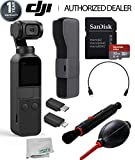 DJI Osmo Pocket Handheld 3 Axis Gimbal Stabilizer with Integrated Camera Starters Bundle
