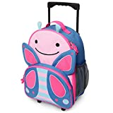 Skip Hop Kids Luggage with Wheels, Butterfly