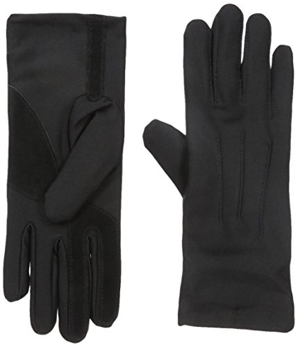 Isotoner Womens Stretch Classics Fleece Lined Gloves, black One Size