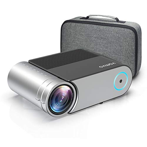 Mini Projector, Vamvo L4200 Portable Video Projector, Full HD 1080P 200' Display Supported; Outdoor Movie Projector 3800 Lux with 50,000 Hrs, Compatible with Fire TV Stick, PS4, HDMI, VGA, AV and USB