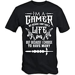 6TN Mens I'm a Gamer T Shirt (Black XXL)