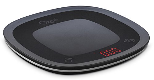 Ozeri ZK21-B Touch Waterproof Digital, Washable and Submersible Kitchen, Chef, Food, Vegetable, Scale Small Black