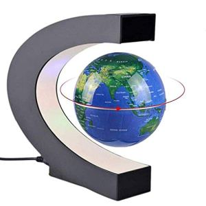 C Shape Magnetic Best Levitating Globe with LED Light