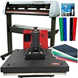USCutter Bundle: 34' SC2 Vinyl Cutter + 15x15 Heat Press Machine Htv Sign Vinyl