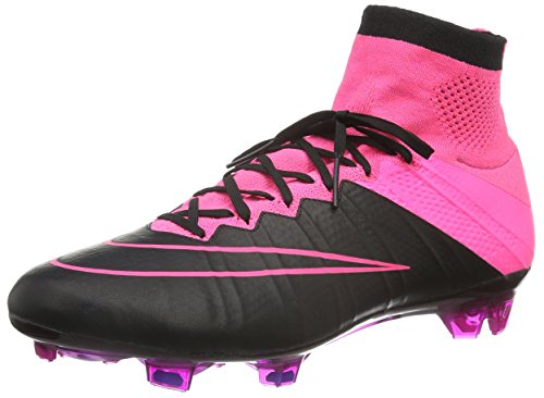 Nike Mercurial Superfly Leather FG 747219-006 Black/Pink Men Soccer Cleats