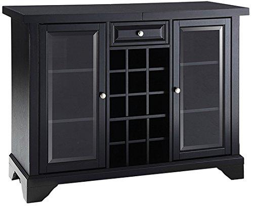 Crosley Furniture Lafayette Sliding Top Bar Cabinet - Black