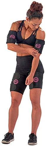 Arn Trimmers & Thigh Trimmer for Women & Men (4-Pack) - Increases Heat & Sweat Production - Sweat Band, Shaper & Slimmer - Arm & Thigh Toner Bands for Workout - Sweat Belt & Body Wraps for Weight Loss 7