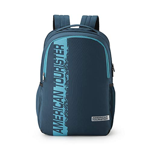 41hOpqgocRL - American Tourister Spin 49 cms Teal Laptop Backpack (FS0 (0) 11 001)